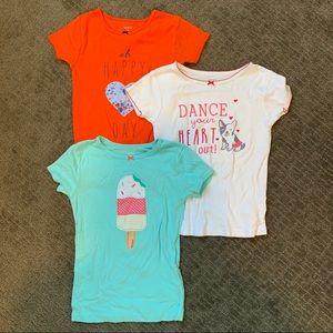 (3) CARTER'S Tshirt bundle size 7
